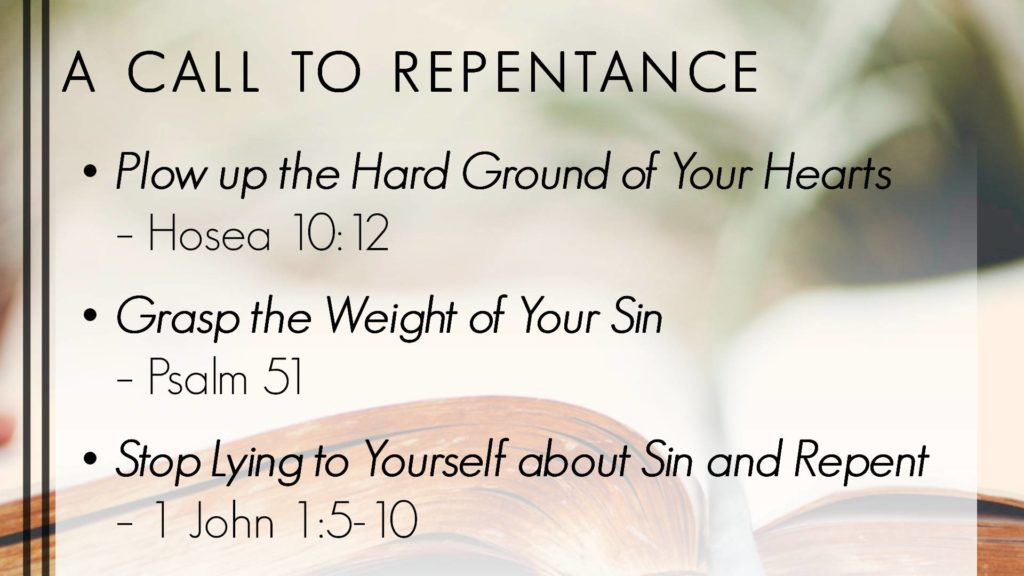 6 4 – Call to Repent – Temple Baptist Church of Rogers, AR